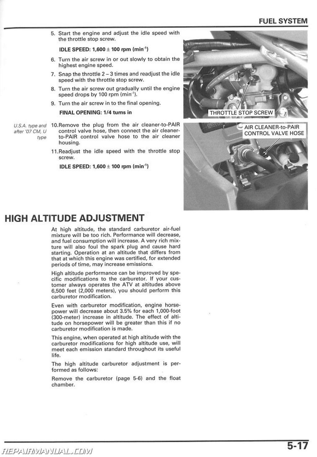 2006 honda crf50 service manual