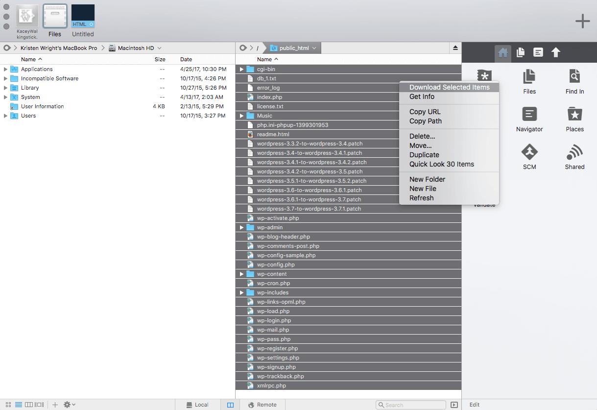 manually move wordpress to new server