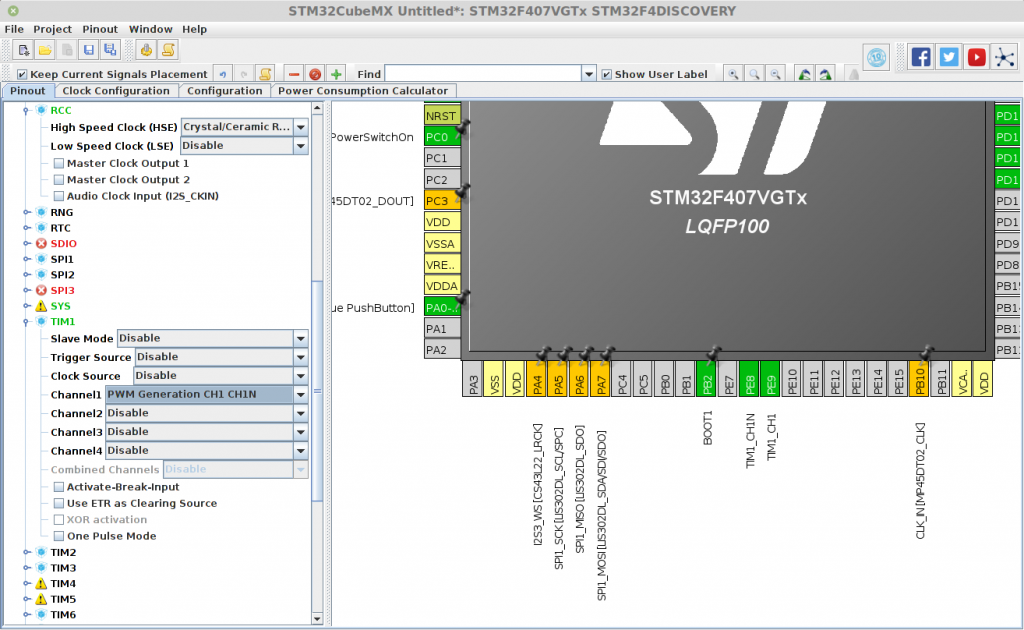 stm32 manual configuration of timers for pwm