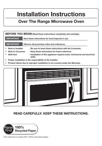 samsung shs-1321 installation manual