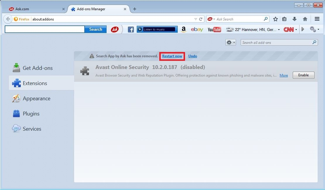how to remove firefox plugins manually