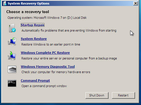 manually clearing virus system restore clear