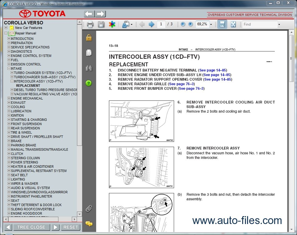 1993 toyota corolla car manual