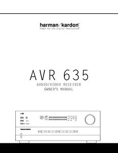 manual for harmon kardon avr 147