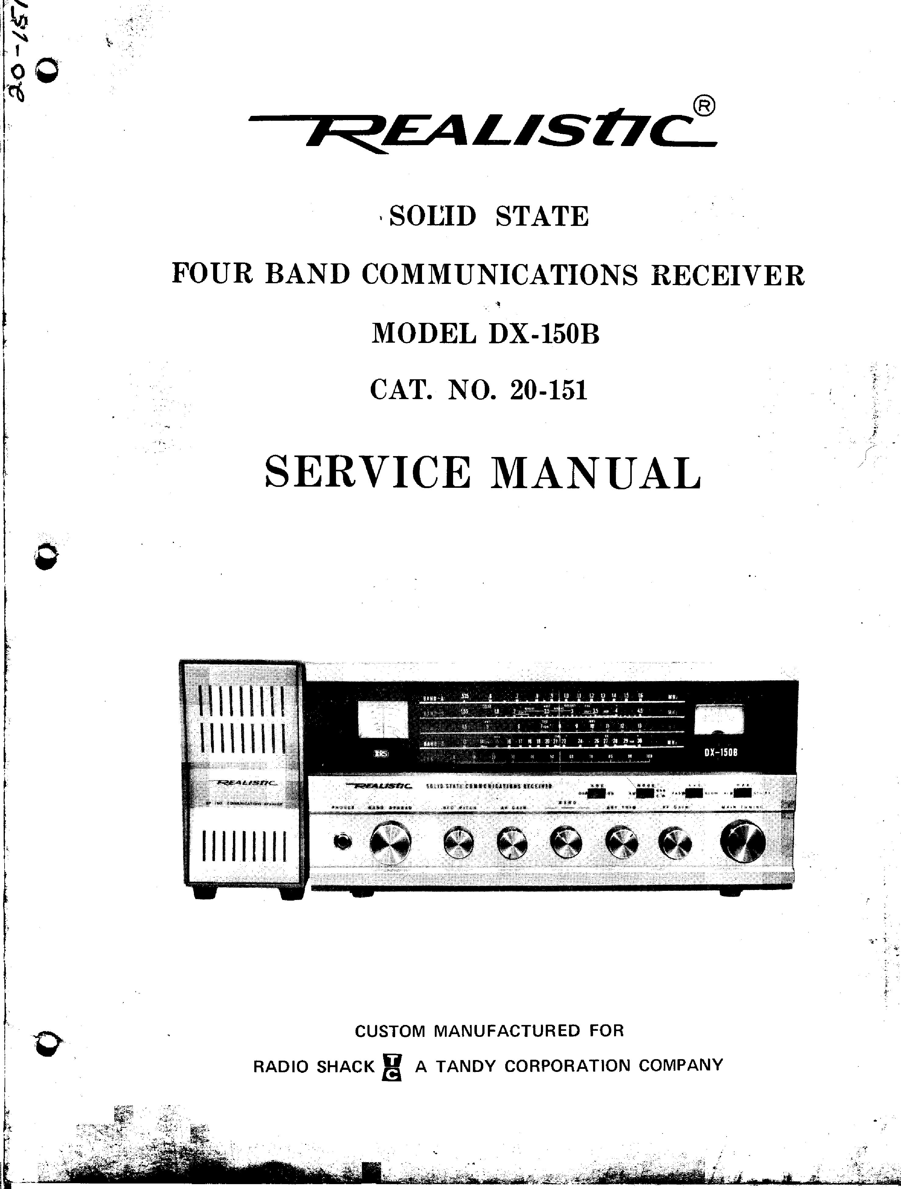 realistic sa-1001 service manual