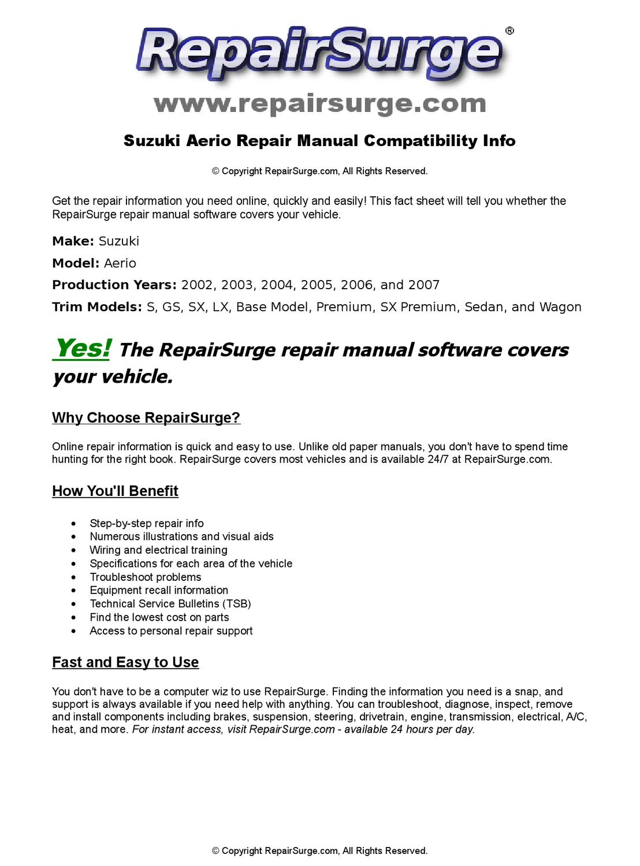 suzuki xl-7 2002 workshop manual