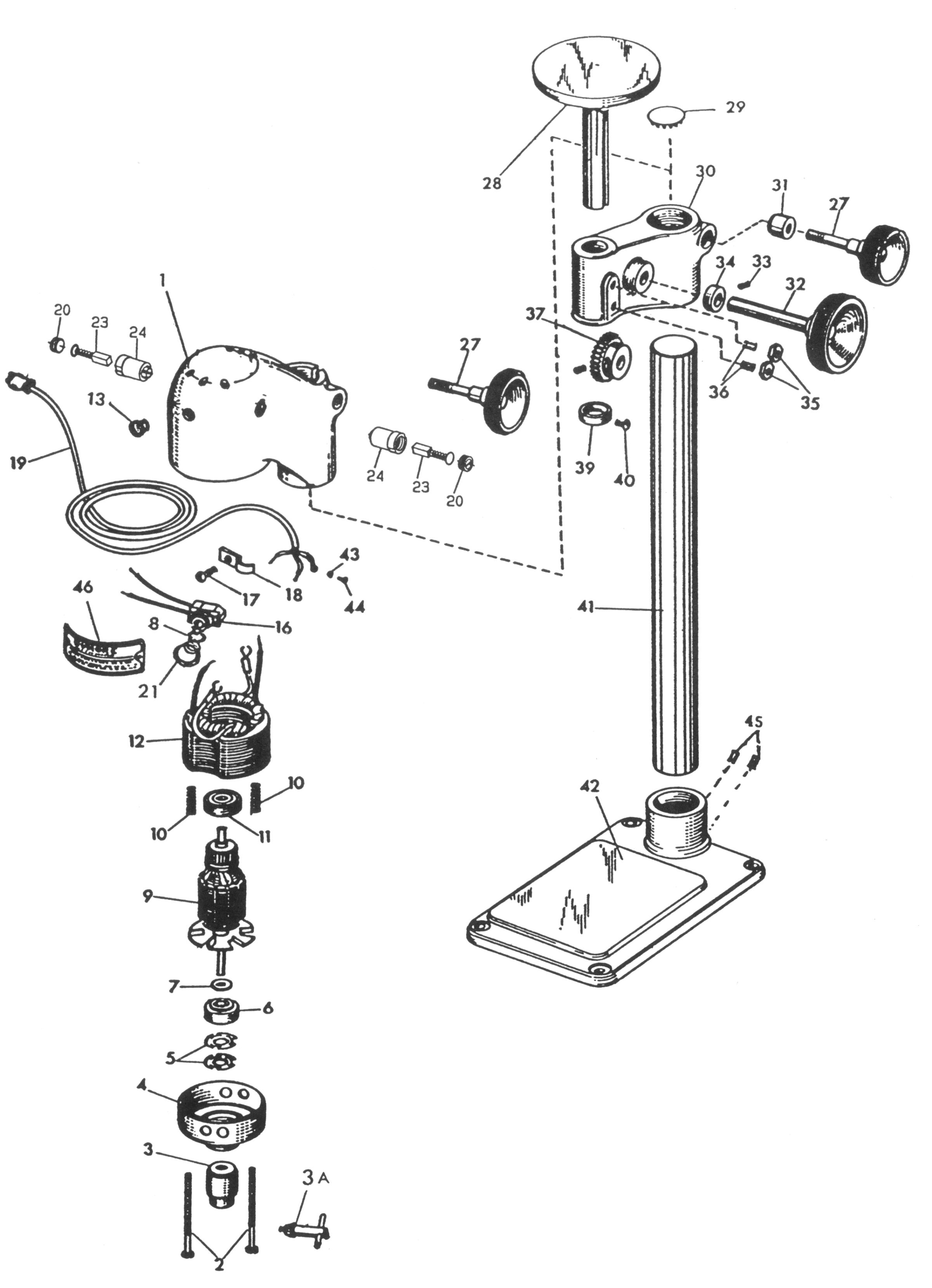 craftsman drill press parts manual
