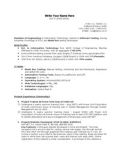 cover letter for manual testing job with 3 years experience
