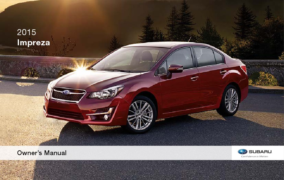 Subaru Impreza User Manual 2017 Pdf