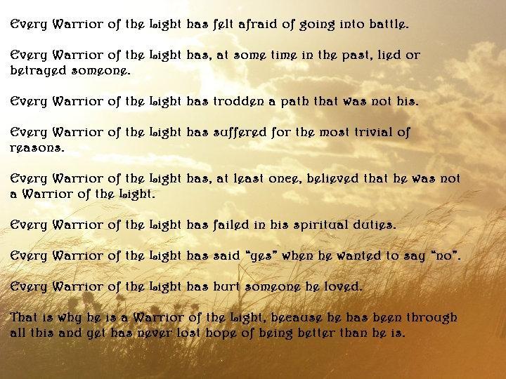 manual of the warrior light paul coelho