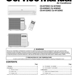 panasonic cs-w12dkr service manual